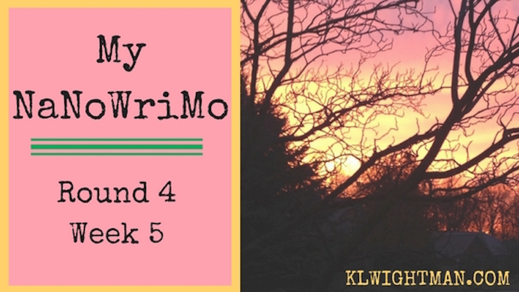 My NaNoWriMo Round 4: Week 5