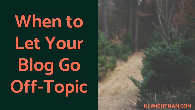 When to Let Your Blog Go Off-Topic