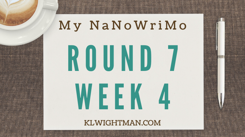 My NaNoWriMo Update: Round 7, Week 4